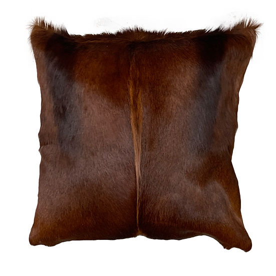 Springbok Hide Cushion Sandalwood Brown