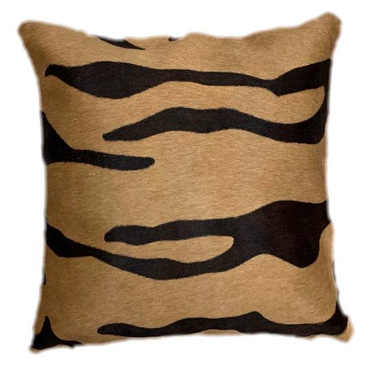 Cowhide Cushion | 40cm x 40cm | Tiger on Beige