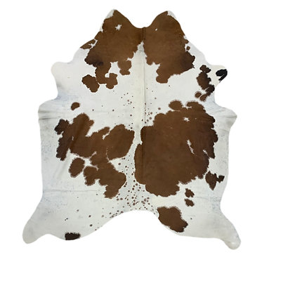 Cowhide Rug | Brown and White | L | 10161