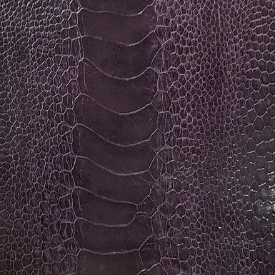 Ostrich Leg Leather   African Violet   Glazed Finish
