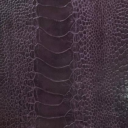 Ostrich Leg Leather | African Violet | Glazed Finish