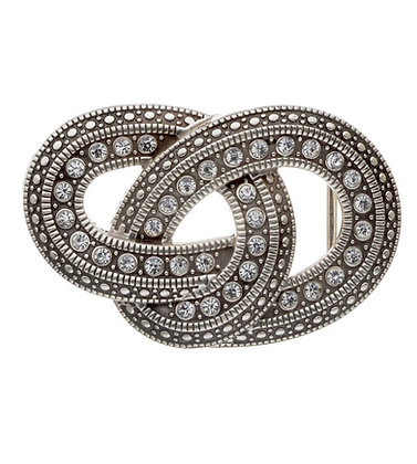 3D Belt Buckle | Knot with Crystals Design