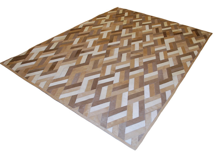 Cowhide Design Rug | Bamboo