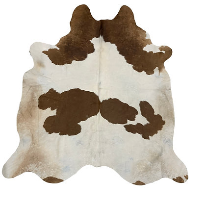 Cowhide Rug | Brown and White | L | 10227