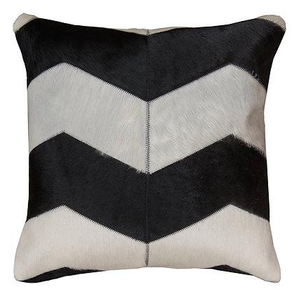 Cowhide Cushion | Black and White Chevron | 50cm x 50cm