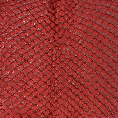 Arapaima Leather | Dark Red Semi Shiny
