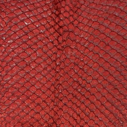Arapaima Leather   Dark Red Semi Shiny