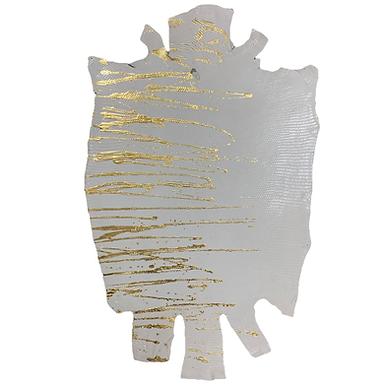 Lizard | Skateonice | White with Gold  Metallic