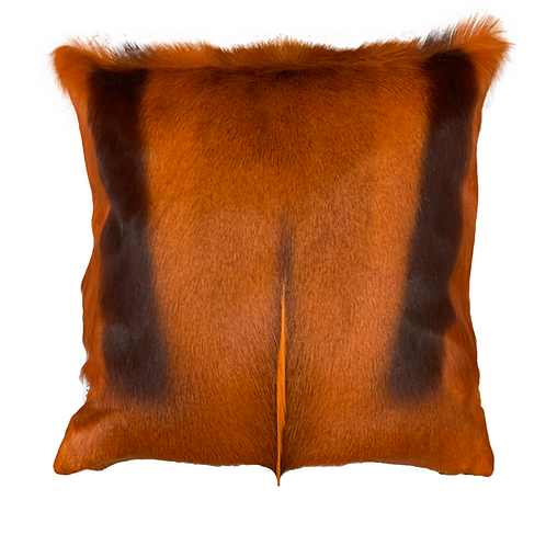 Springbok Hide Cushion | Burnt Orange
