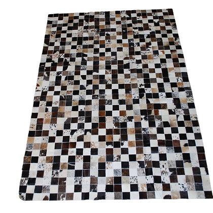 Patchwork Cowhide Rug | Natural Dark Browns | 120 x 180cm
