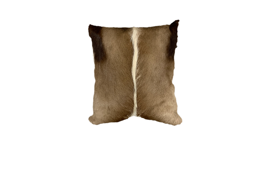 Springbok Hide Pillow | Natural