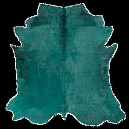 Italian Dyed Cowhide Rug | Emerald