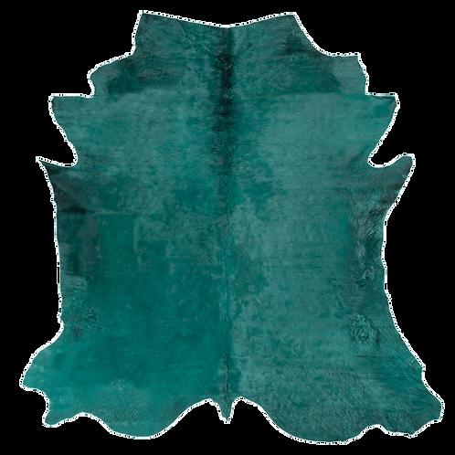 Italian Dyed Cowhide Rug   Emerald