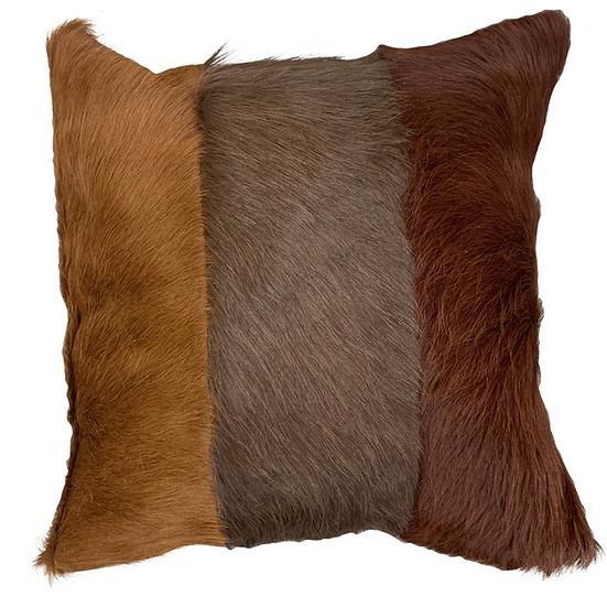 Cowhide Cushion | Tri Panel  | Browns