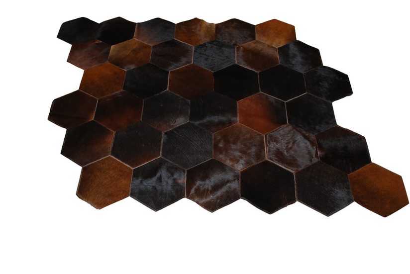 Quito Patchwork Cowhide Rug | Chocolate 140 x 150cm