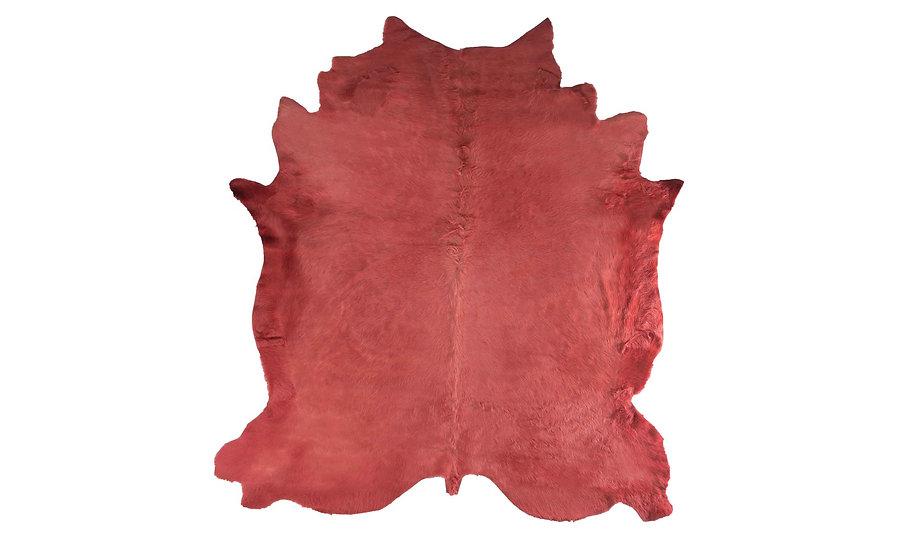 Italian Dyed Cowhides | Dark Rose