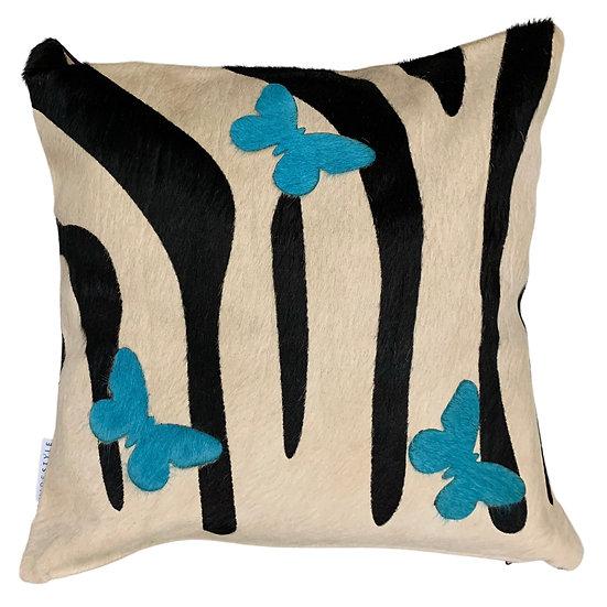 Cowhide Cushion | Zebrafly | 45cm x 45cm