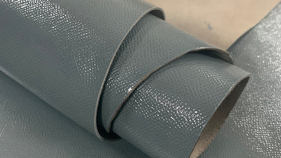 High Gloss Epsom Leather | Grey