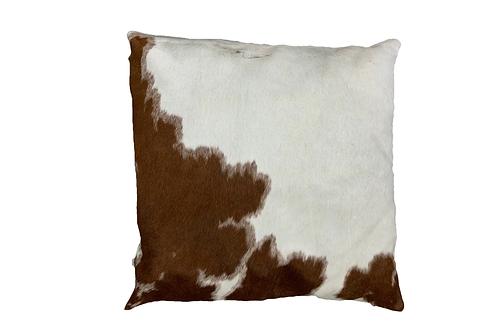 Cowhide Cushion | Brown and White | 60cm x 60cm