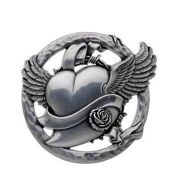 3D Belt Buckle | Winged Heart Design