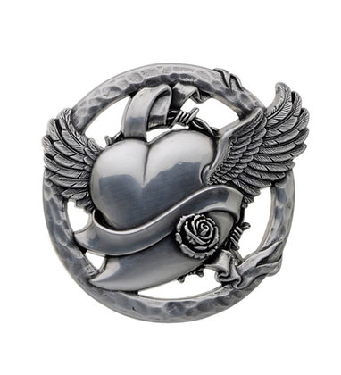 3D Belt Buckle | Winged Heart Design