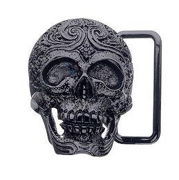 3D Belt Buckle | Carved Skull Design