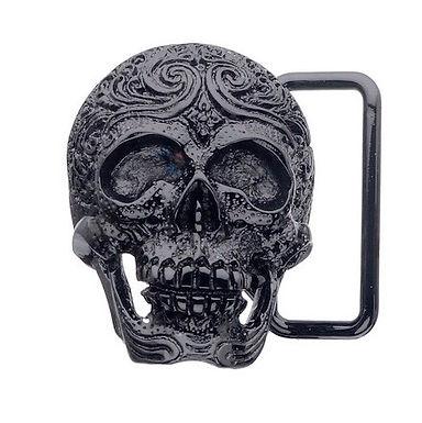3D Belt Buckle   Carved Skull Design