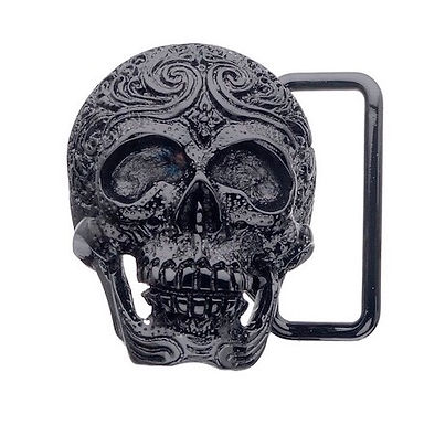 3D Belt Buckle | Carved Skull Design