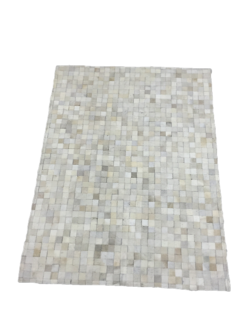 Patchwork Cowhide Rug |  Natural Off White