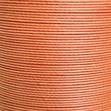 Meisi Superfine Waxed Linen Thread | Tangerine | MS015