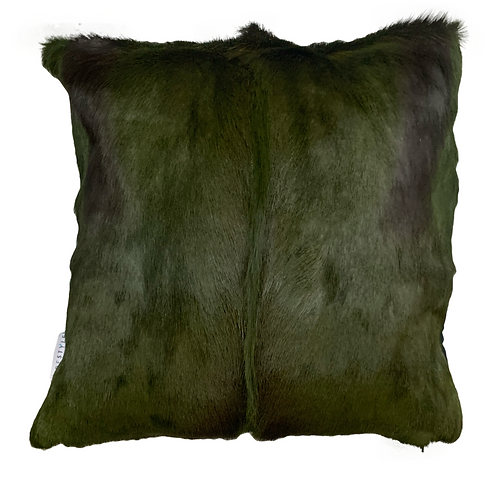 Springbok Hide Cushion Olive Green