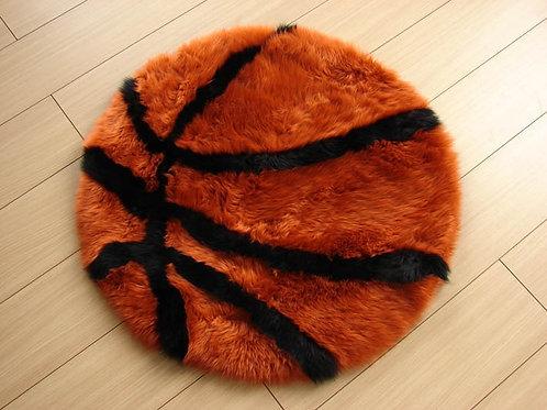 Basketball Sheepskin Play Rug