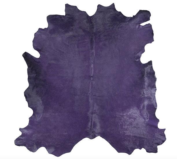 Italian Dyed Cowhide Rug | Purple