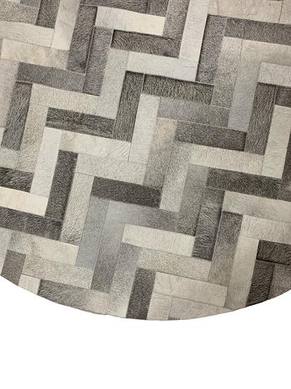 Caracas Patchwork Cowhide Rug | Natural Grey 180cm