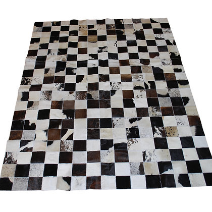 Patchwork Cowhide Rug | Natural Dark Browns | 150cm x 200cm