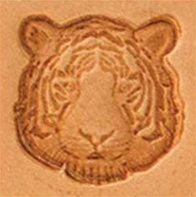 Tandy Leather | Tiger Head 3-D Mini Stamp | 8871-00