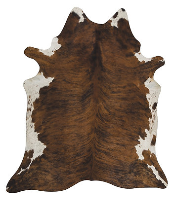 Cowhide Rug | Brindle with White Highlights