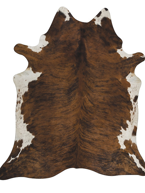 Cowhide Rug Brindle / Exotic with White