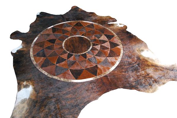 Cowhide Rug | Lotus Inlay