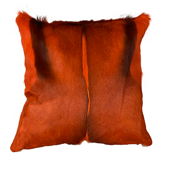 Springbok Hide Cushion Orange