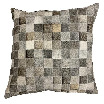 Cowhide Cushion | Grey | 60cm x 60cm
