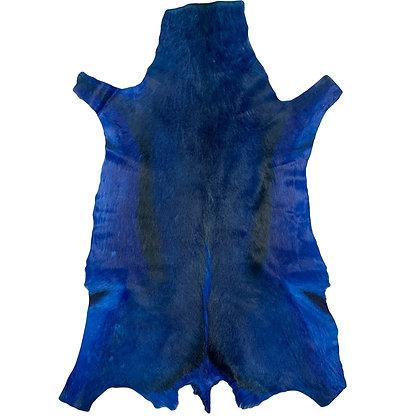 Springbok Hide Rugs   Navy Blue