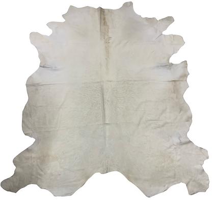 Italian Cowhide Rug | Ivory White | XL | 10001