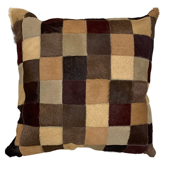Cowhide Cushion | 40cm x 40cm | Mixed Browns