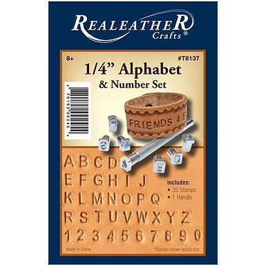 "1/4"" Alphabet & Number Stamp Set | Real Leather"