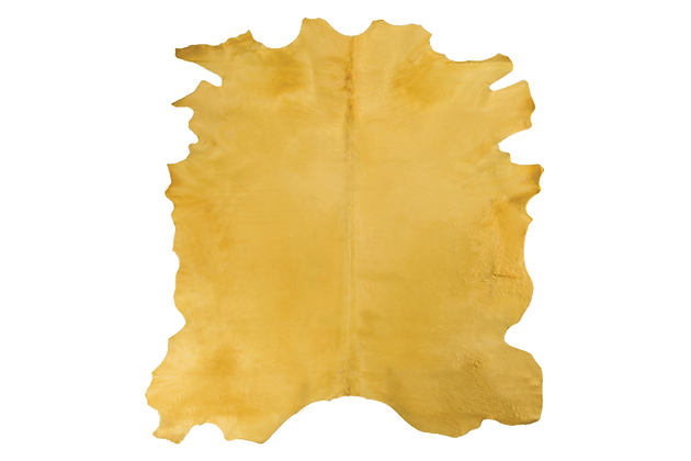 Italian Dyed Cowhide Rug | Gold