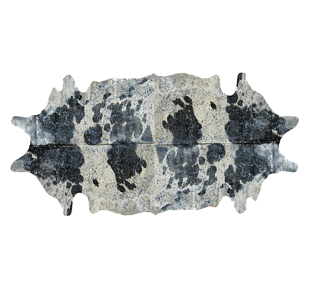 Duplex Metallic Splash Cowhide Rugs