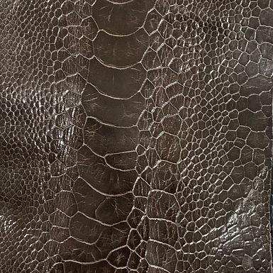Ostrich Leg Leather | Marron | Glazed Finish