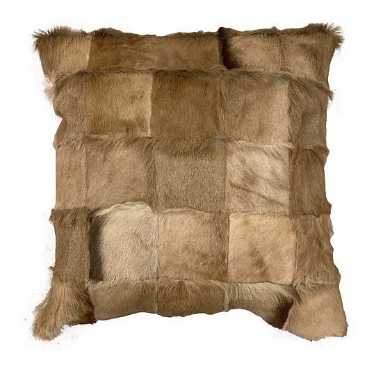 Springbok Patchwork Cushion | Natural