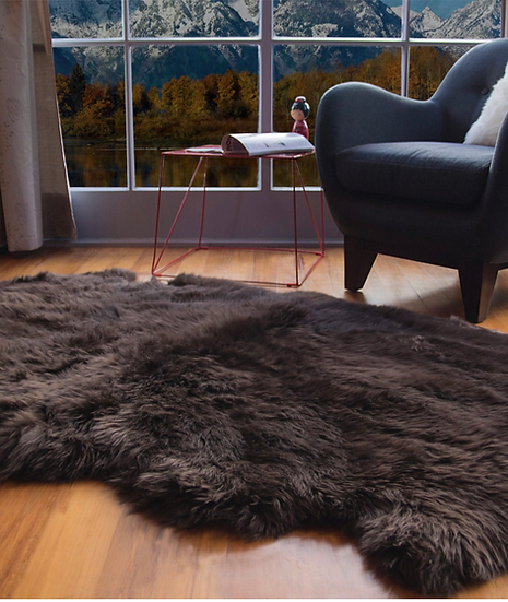 Longhair Sheepskin Rug | Four Piece